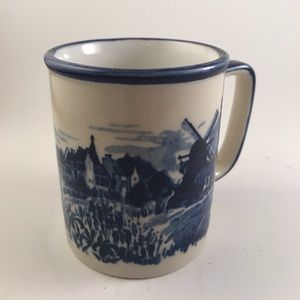 Vintage windmill coffee mug made in Japan